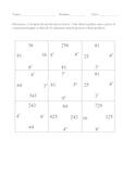 Exponent Puzzle