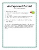 Exponent Puzzle - Simplifying Expressions using Product & Power Rules