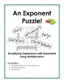 Exponent Puzzle - Simplifying Expressions using Product &