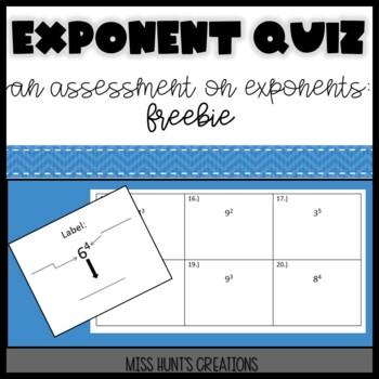 Exponent Quiz