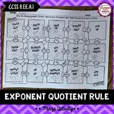 Exponent Quotient Rule Maze Activity