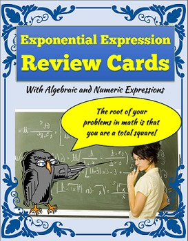Exponent Review Notecard Activity - Simplify Expressions with Exponents