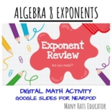 Exponent Review for Nearpod in Google Slides - In Class or