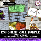 Exponent Rule Bundle (Part 1 and 2)