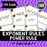 Exponent Rule - Power Rule Task Cards 8.EE.A1
