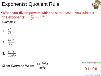 Exponent Rule Powerpoint