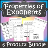 Exponent Rules Activities {Properties of Exponents Rules} {Laws of Exponents}