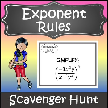 Exponent Rules Activity {Laws of Exponents Activity} {Exponent Games}