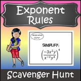 Exponent Rules Activity {Laws of Exponents Activity} {Expo