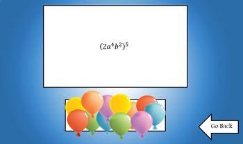 Exponent Rules Balloon Pop Koosh Ball Game