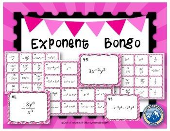 Exponent Rules Bongo