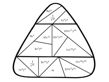 Exponent Rules Candy Corn Coloring Sheet