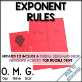 Exponent Rules Card Game