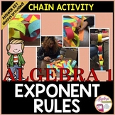 Exponent Rules / Laws of Exponents Chain Activity