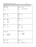 Exponent Rules - Circuit Training