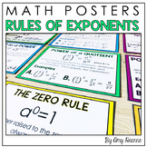 Math Posters: Laws of Exponents Charts and Student Note Sheets