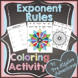 Exponent Rules Coloring Activity {Laws of Exponents} {Dist