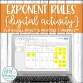 Exponent Rules DIGITAL Drag and Drop Activity for Google Drive Distance Learning