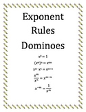 Exponent Rules Dominoes