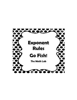 Exponent Rules Go Fish By The Math Lab Teachers Pay Teachers