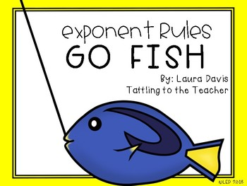 Exponent Rules Go Fish