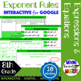 Exponent Rules Interactive for Google Classroom