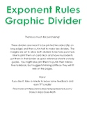 Exponent Rules Graphic Divider