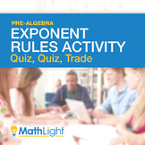Exponent Rules Group Activity: Quiz, Quiz Trade