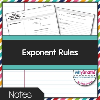 Exponent Rules Guided Notes