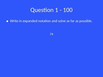 Exponent Rules Jeopardy Review