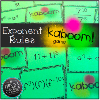 Exponent Rules Kaboom