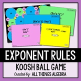 Exponent Rules Koosh Ball Game