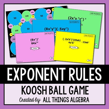 Exponent Rules Koosh Ball Game