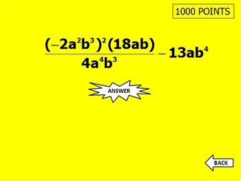 Exponent Rules - Laws of Exponents - Koosh Ball Game