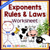 Rules of Exponents: Multiply & Divide Worksheet (Exponent Laws)