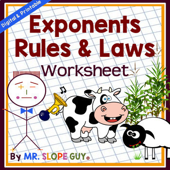 Exponent Rules & Laws: Multiply & Divide Worksheet 8.EE.A.