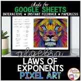 Google Sheets Digital Pixel Art Math Exponent Rules | Laws