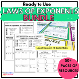 Exponent Rules | Laws of Exponents Bundle