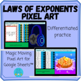 Exponent Rules/Laws of Exponents Pixel Art
