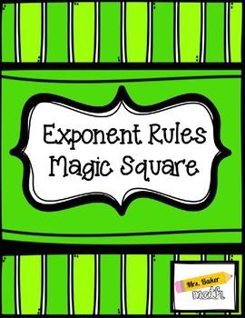 Exponent Rules Magic Square