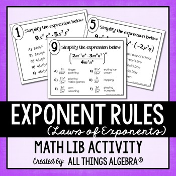 Exponent Rules - Laws of Exponents - Math Lib