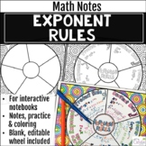 Exponent Rules Math Wheel