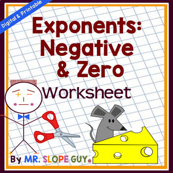 Exponent Rules Negative and Zero Worksheet