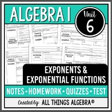 Exponents and Exponential Functions (Algebra 1 - Unit 6) DISTANCE LEARNING