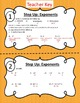 Exponent Rules Overall Review with Taskcards
