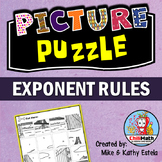Exponent Rules Picture Puzzle