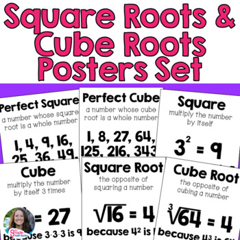 Square Roots & Cube Roots Posters Set