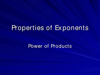 Exponent Rules: Power of Products
