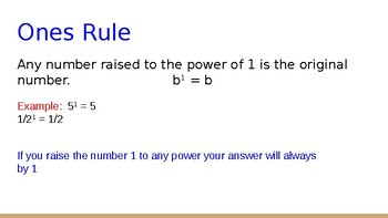 Exponent Rules Power Point