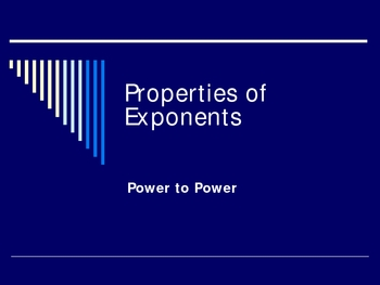 Exponent Rules: Power to Power